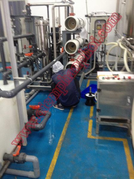 Hệ thống xử lý đặt trước máy nước uống nóng lạnh
