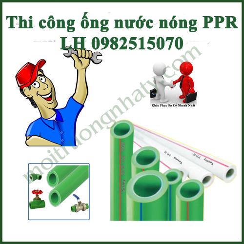 Thi cong ong nuoc nong PPR
