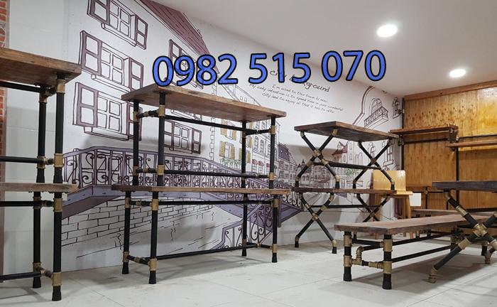 bàn cà phê ống nước 1121