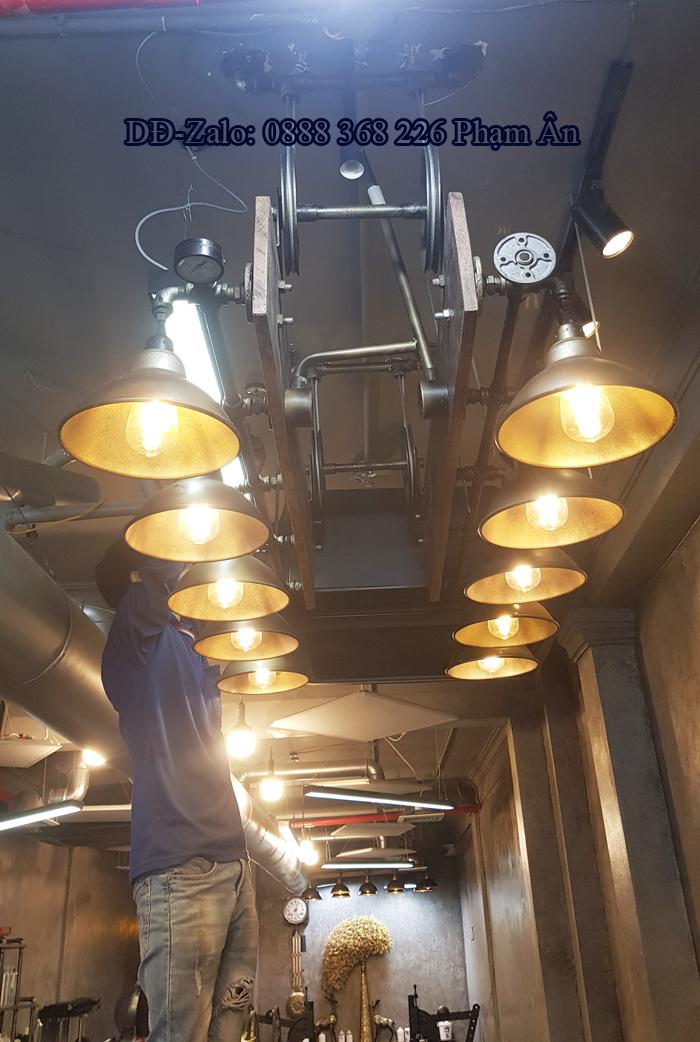 đèn decor ống nước độc lạ